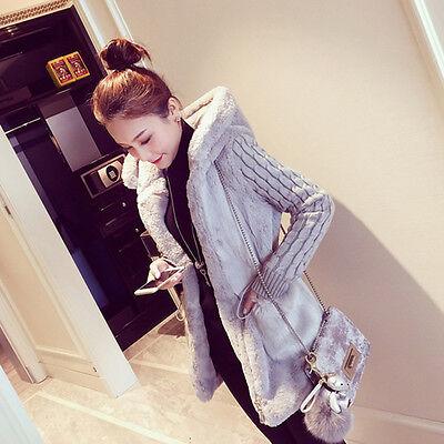Winter Womens Hooded Coat Zipper Long Sleeve Jacket Parka Outwear Overcoat M Xl