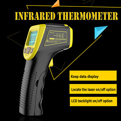 Non Contact Lcd Digital Infrared Thermometer Temperature Ir Gun Industrial Usa