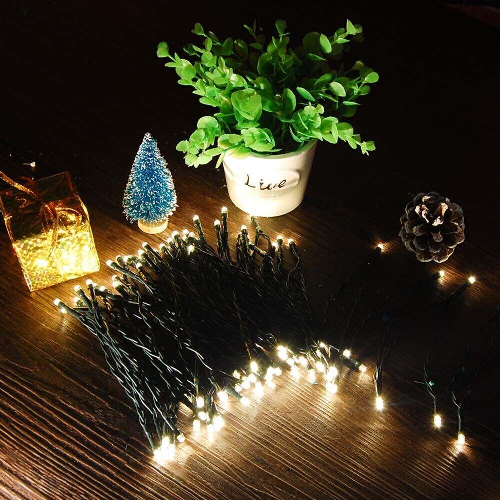 32FT 100 LED Christmas Fairy String Light SOLAR PANEL Party
