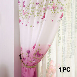 Baby Kids Bedroom Window Erfly Door Panel Fancy Curtains 200cmx100cm