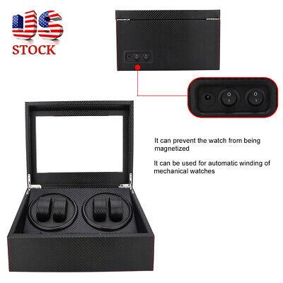 Automatic Rotation 4+6 Watch Winder Wristwatch Storage Box Display Case
