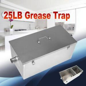 Grease trap - 25LB-Commercial-13GPM-Gallons-Per-Minute-Stainless-Steel-