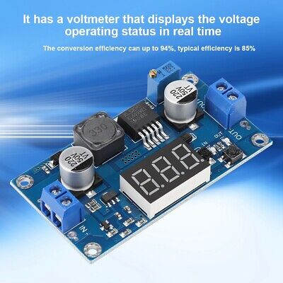 Dc-dc Boost Buck Adjustable Step Up Converter Module Voltage Voltmeter Display