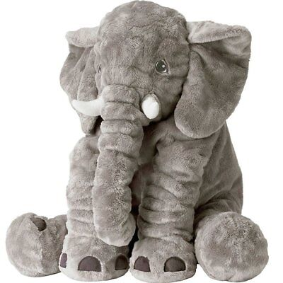 XXL Stuffed Animal Elephant Toy Plush Pillow grey 24 inch Kids - Child Plush