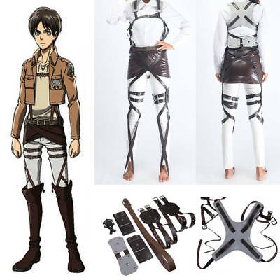 Cos Attack on Titan SNK Shingeki no Kyojin Harness Gürtel Cosplay Jäger Kostüm
