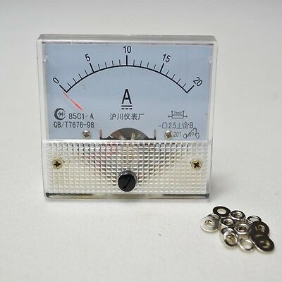 Top Dc 20 Amp Analog Amp Meter Panel Mount 85c1