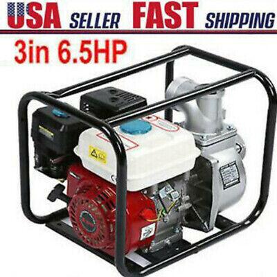 3 6.5hp Gas Water Semi Trash Pump Petrol Garden Irrigation Cleaning Equipment
