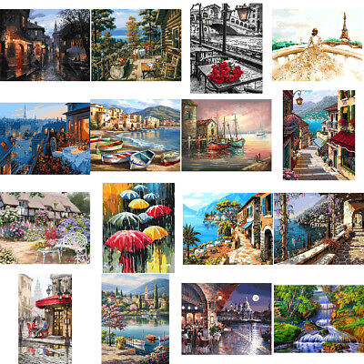 DIY Scenery Paint By Number Kit Acrylic Oil Painting Art Wall Home Decor Grand Deluxe Acrylic Art Kit