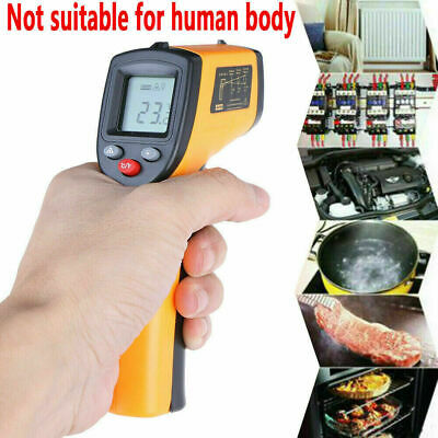 Noncontact Digital Ir Infrared Temperature Pyrometer Industrial Gun Thermometer