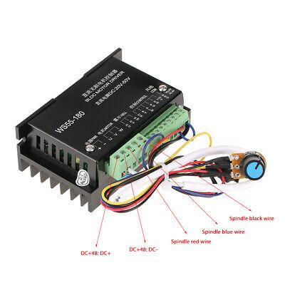 Brushless Motor Driver Controller Ws55-180 Dc 20v-50v Cnc Spindle Bldc Dldc