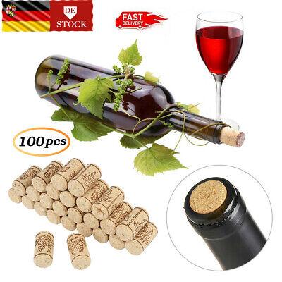 100 Stück Rotweinflasche Stopper Weinkorken Basteln Naturkorken 21*40mm DE