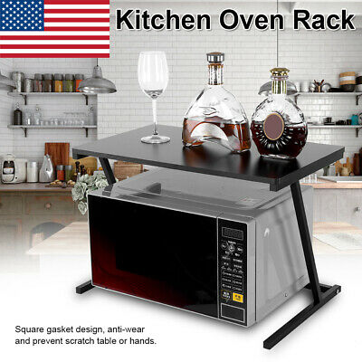 Microwave Oven Rack Storage Stand Cabinet Counter Holder Organizer Shelf Kitchen