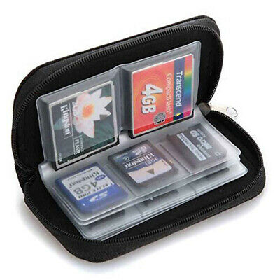 22-Slot Memory Card Case SD SIM CF Card Holder Portable Carrying Pouch Bag NEW