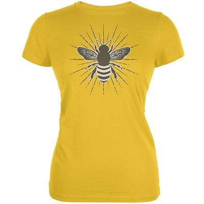 Bumble Bee Rays Bright Yellow Juniors Soft - Bumble Bee Tshirt