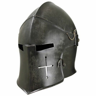 REPLICA ANTIQUE COSTUME18GA Medieval Barbuta Helmet /Great Knight Templar - Medieval Helmet