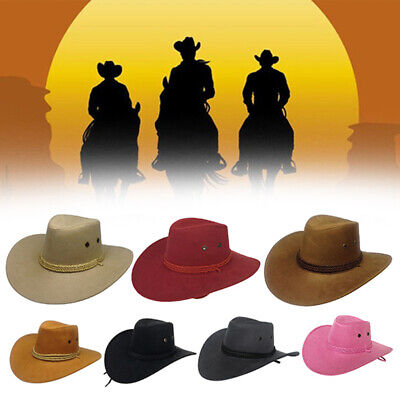 Western Style Men Summer Travel Sun Visor Wide Brim Stylish Cowboy Hat Cap Well Clothing, Shoes & Accessories
