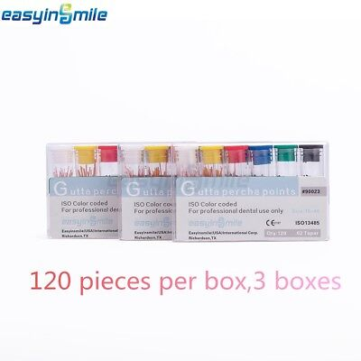 3 Boxes Easyinsmile Dental Gutta Percha Points .02 Special Taper Endo Obturation