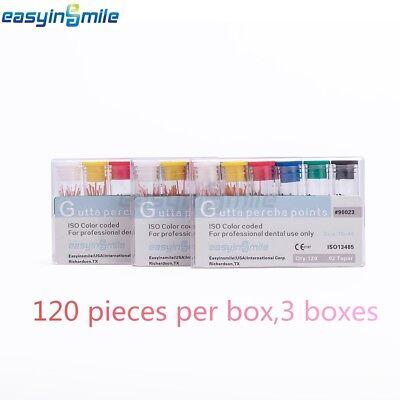 3 Boxes Easyinsmile Dental Gutta Percha Points .02 Special Taper Endo Obturation