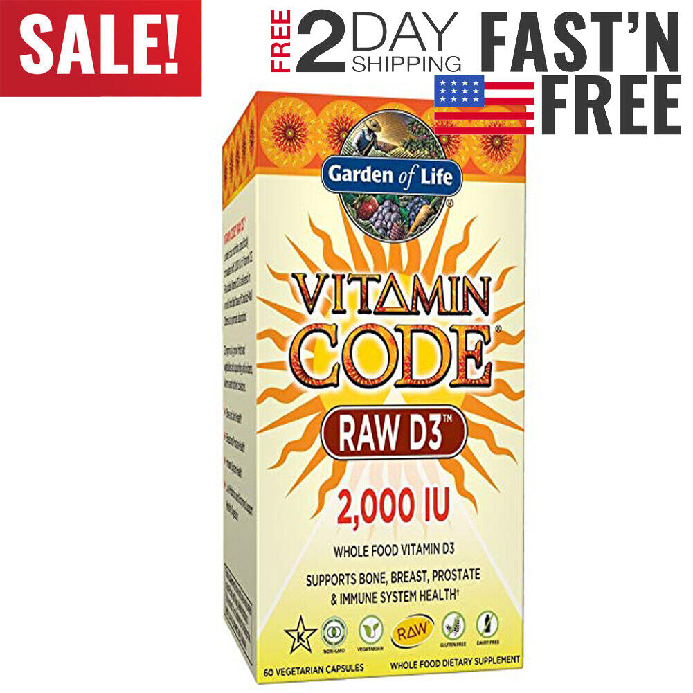 Garden of Life D3 - Vitamin Code Whole Food Raw D3 Vitamin S
