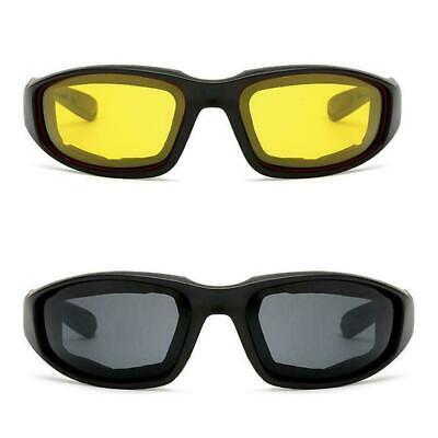 Anti-Glare Motorrad Brille polarisierte Nachtlinse Brille Sonnenbrille PC H9F8