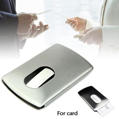 Stainless Steel Business Id Credit Card Wallet Holder Metal Pocket Case Box Ga