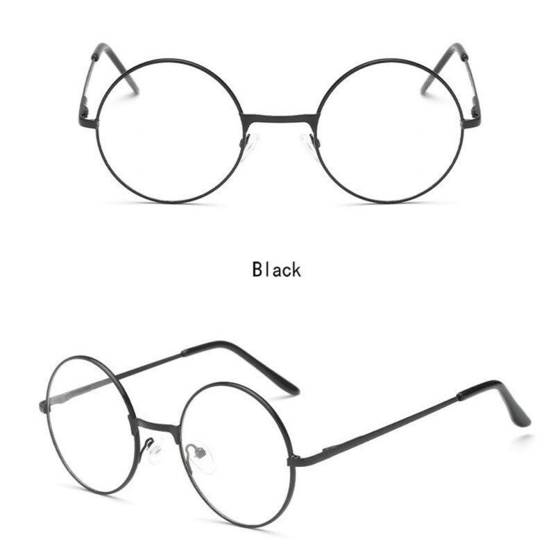 2d546bbf033aa Unisex Big Round Gold Metal Frame Clear lens Vintage Retro Geek Fashion  Glasses