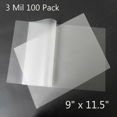 100 Pack 3 Mil Thermal Laminating Pouches 9x11.5 Letter Size Laminator Sheets