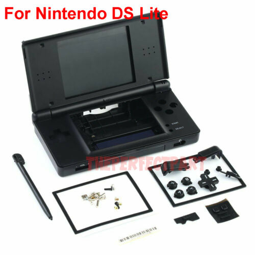 OEM Full Replacement Housing Shell Screen Lens Black For Nintendo DS Lite NDSL