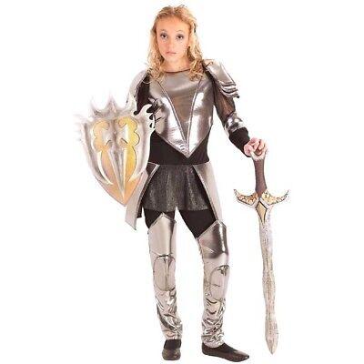 Krieger Schnee Tween Kostüm Ritter Joan Of Arc Rüstung Mädchen Teenager Weiß