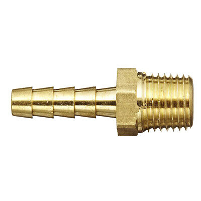 14 Inch Npt To 14 In Barb Male Pipe Brass Hose Fitting Bare Adapter Connector
