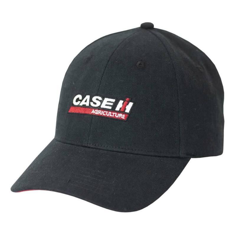 Case IH Logo Washed Black Twill Cap A2347