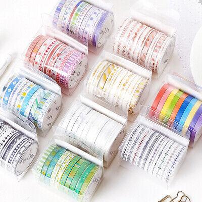 10 Rolls Lovely Frame Washi DIY Scrapbook Photo Album Craft Marking Tape Beamy
