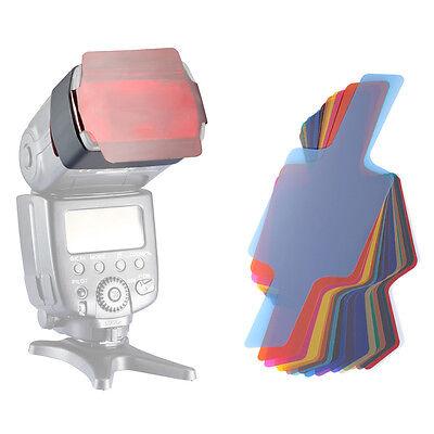 Neewer 20Pcs FLash Speedlite Color Gels Lighting Filter Kit Strobist
