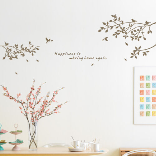 Home Decoration - Bird Branch Wall Stickers Vinyl Decal Removable Home Decor Art Mural