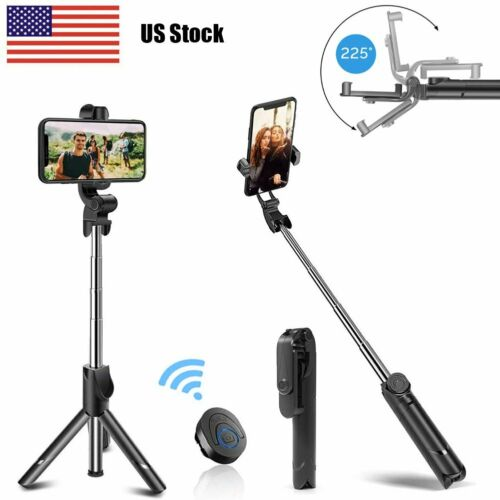 Extendable Selfie Stick Tripod Desktop Stand Desk Holder Rem