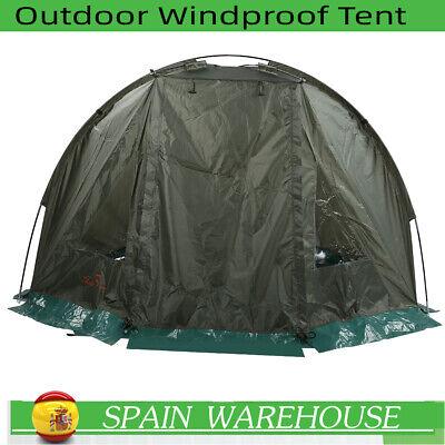 Outdoor Carp Fishing Bivvy Day Tent Shelter 1-2 Man Fishing Camo Tackle Drizzle