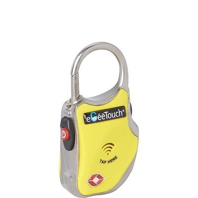 eGeeTouch NFC Gepäckschloss Kofferschloss GT1000 Gelb TSA konform