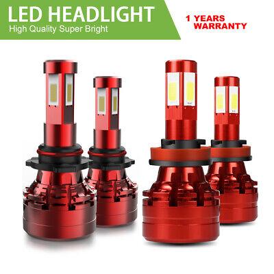 9005 H11 Combo LED Headlights High Low Beam 6000K White 240W 26400LM High