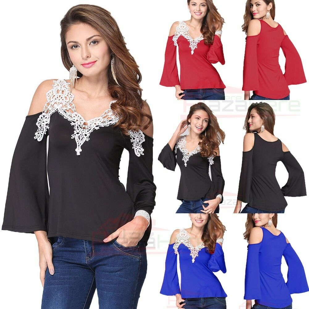 Fashion Women's Ladies Long Sleeve Loose Blouse Casual Shirt