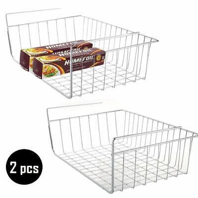 """2 pcs 15.8"""" Under Cabinet Storage Shelf Wire Basket Organize"""