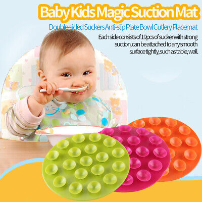 3 Colors Magic Mat for Bowls Anti Spill Tableware Suction Baby Weaning Placemat