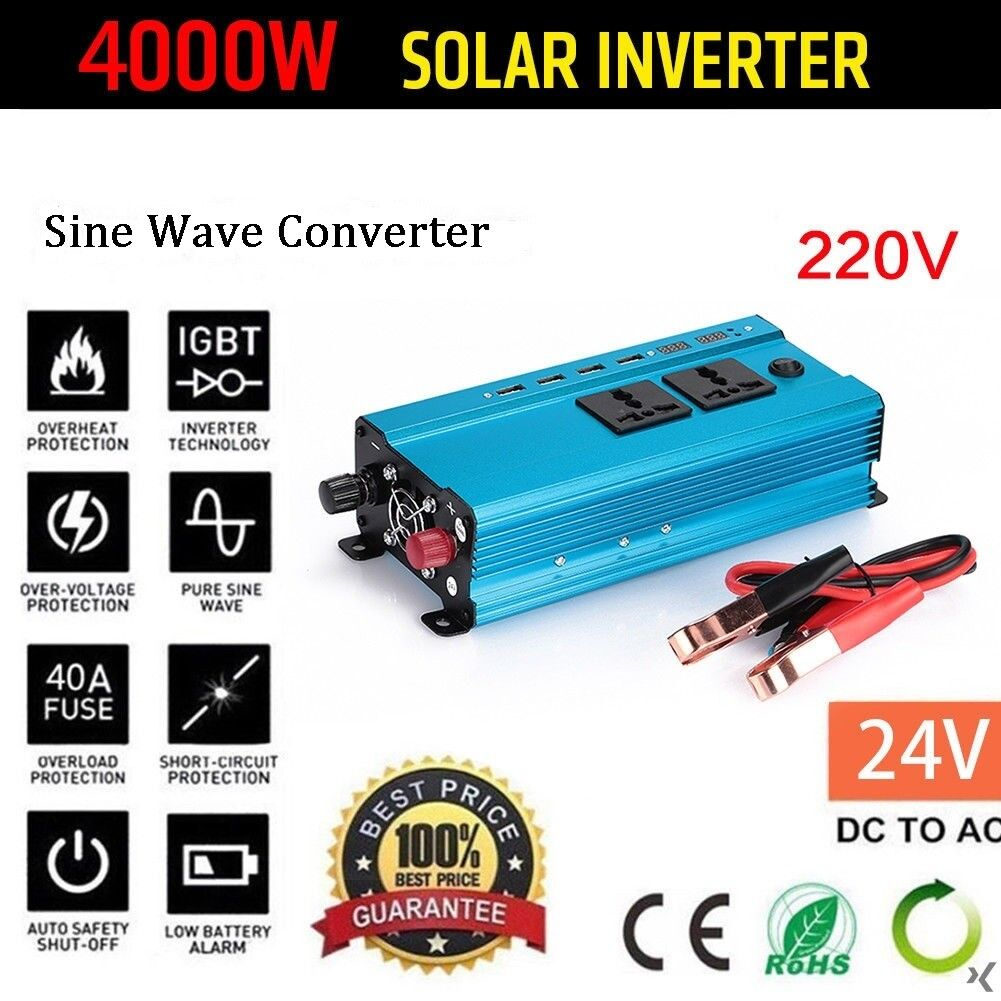 Car Power Inverter DC12V to AC110V Adapter Modified Converter Hi-Q 1500W Digital