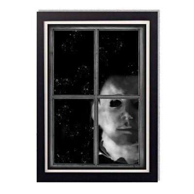 Michael Myers Creepy Staring Through Window Frame Halloween Movie Glossy Poster