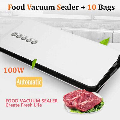 Vacuum Sealer Machine Seal Meal Food Saver Automatic Sealing System + 10 Bag Seal Automatic Vacuum