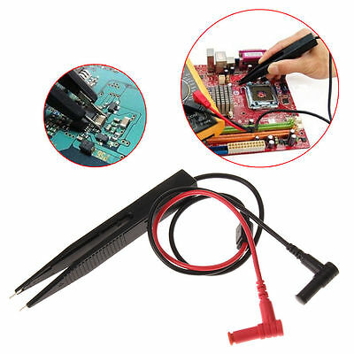 Smd Inductor Test Clip Probe Tweezers For Resistor Multimeter Capacitor Th