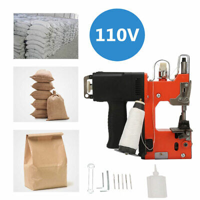 Industrial Portable Electric Bag Stitching Sack Closer Seal Sewing Machine 110v.