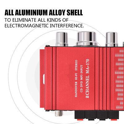 12V Mini Hi-Fi Amplificador de Poder estéreo alta fidelidad Amplificador 2 canal