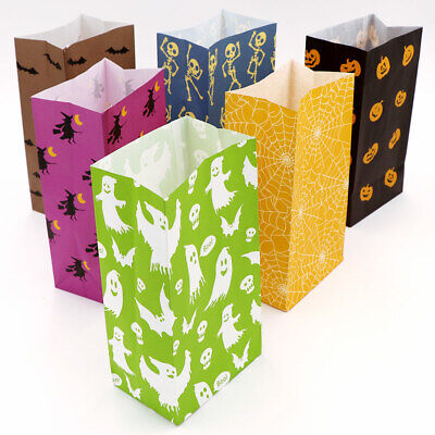 Halloween Favor Bags (12x Halloween Party Favor Bag Candy Gift Treat Bags Paper Bag Home Party)