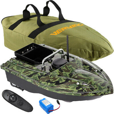 500M RC Camo Fishing Bait Boat Carp Hook Post Speedboat Dual Motors With Handbag