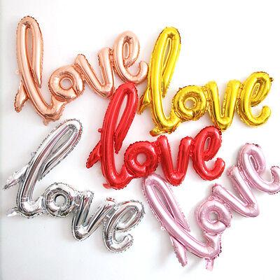LOVE Liebe 43 Zoll Herz Folienballon Jahrestag Hochzeit Valentines Decor Ballons